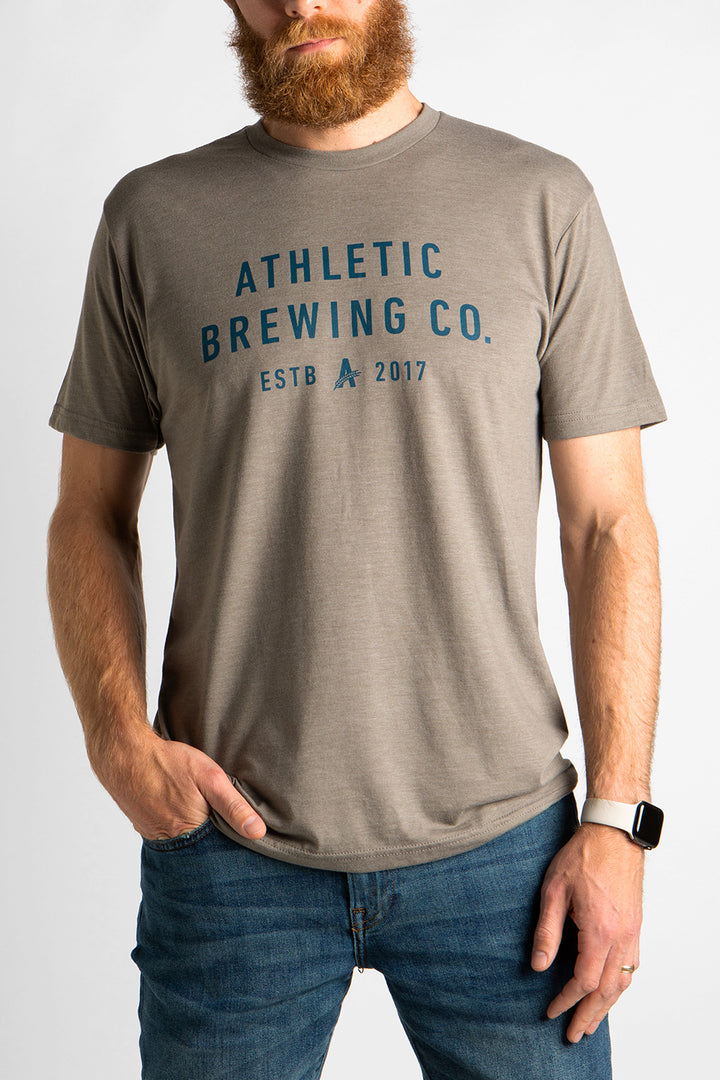 Men's Athletic Brewing Co T-Shirt Venetian Grey