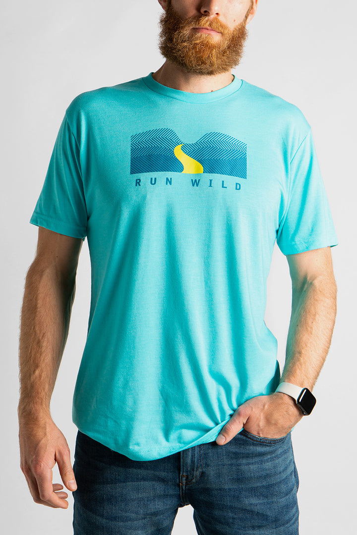 Men's Run Wild T-Shirt Blue