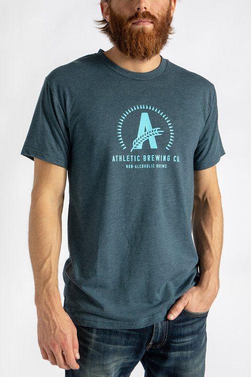 Men's Athletic T-Shirt Blue