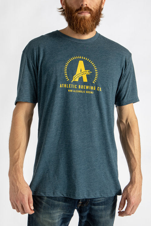Men's Athletic T-Shirt Yellow