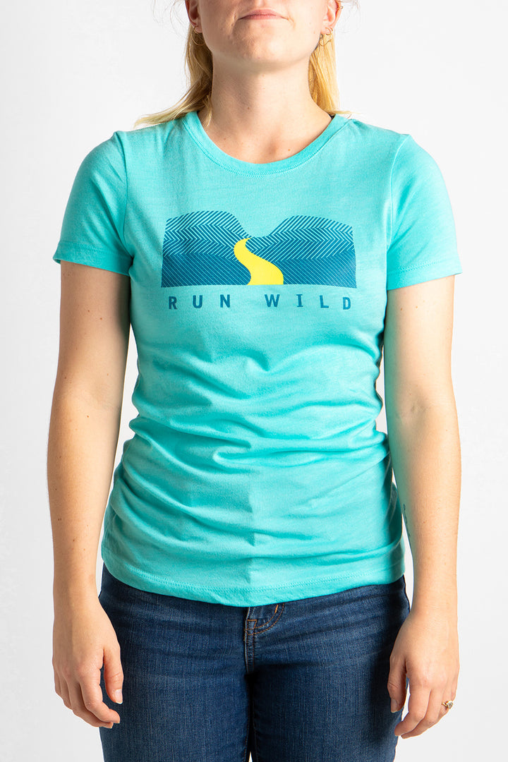Women's Run Wild T-Shirt Blue