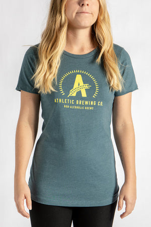 Women's Athletic T-Shirt Yellow