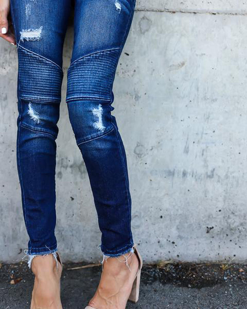 Apex Distressed Skinny Jeans - S-2XL - 2 Colors