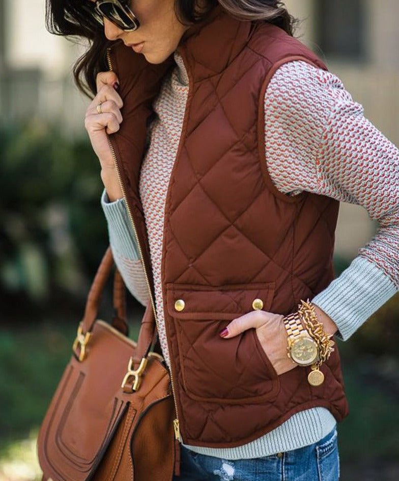 Quilted Winter Jacket Vest - S-XL - 4 Colors