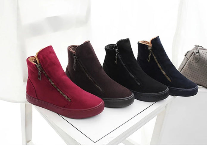 Flock Zipper Snow Boot Sneaker - 4 Colors