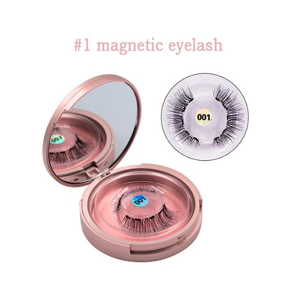 Magnetic Eyeliner, Eyelashes & Tweezer Set