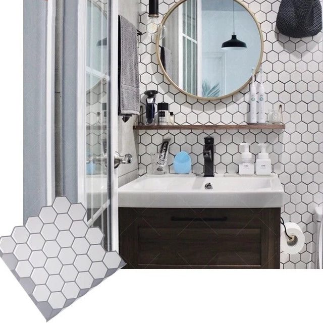 Hexagonal Penny Tile for Kitchen and Bathroom Back splash - Sheet