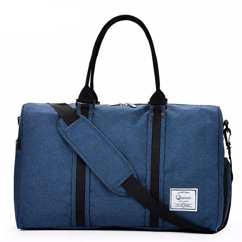 Water Repellent Travel Bag with handle - Blue