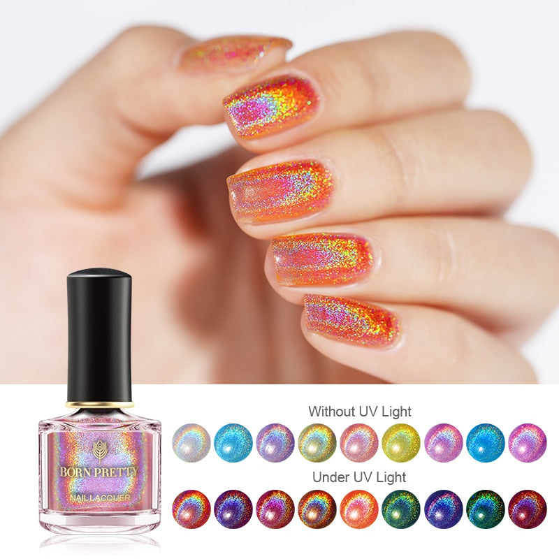 Light Sensitive Holographic Nail Polish 6ml - 9 Colors