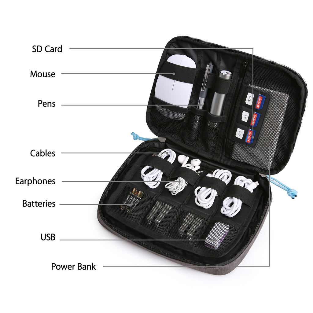 WATER REPELLENT Unisex TRAVEL BAG FOR TOILETRIES - ELECTRONICS