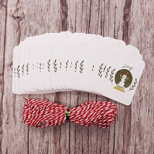 50pcs/lot Merry Christmas Gift Tags
