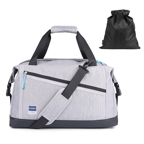 Travel Duffle Bag Expandable Weekender Anti-Theft Overnight Bag  - 2 Colors