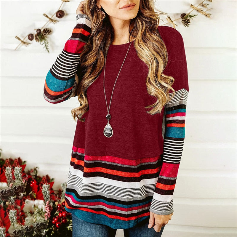 Texas Stripes Long Sleeved Top -  S-2XL - 5 Colors