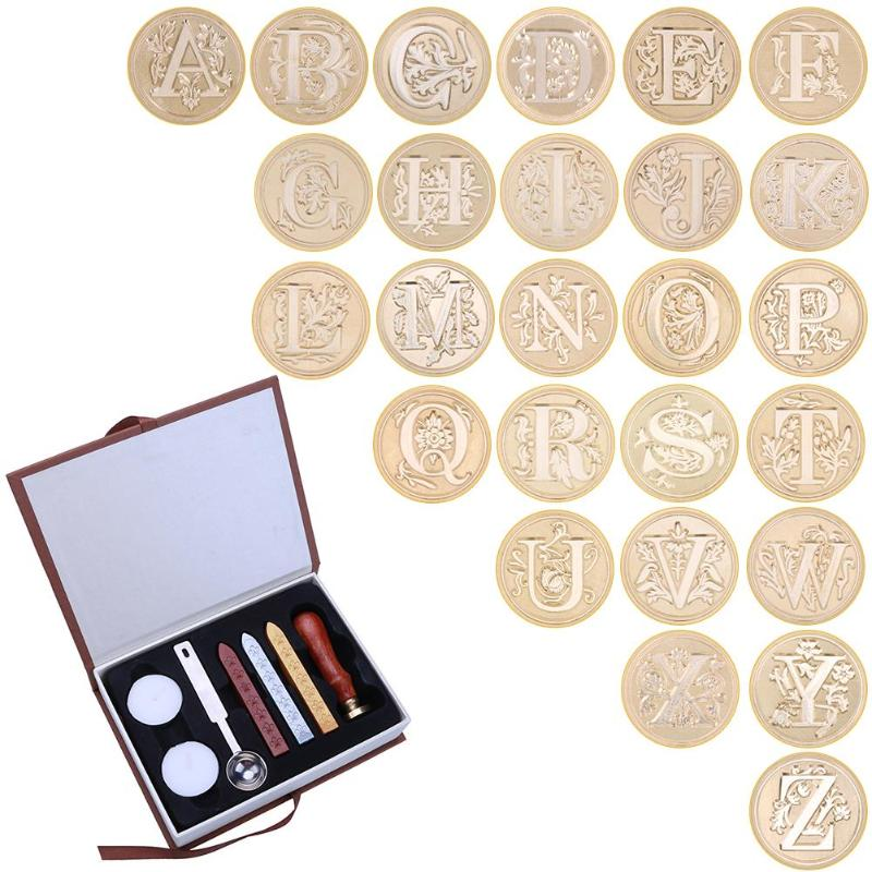 7 pc Alphabet 26 Letter Wax Seal Set