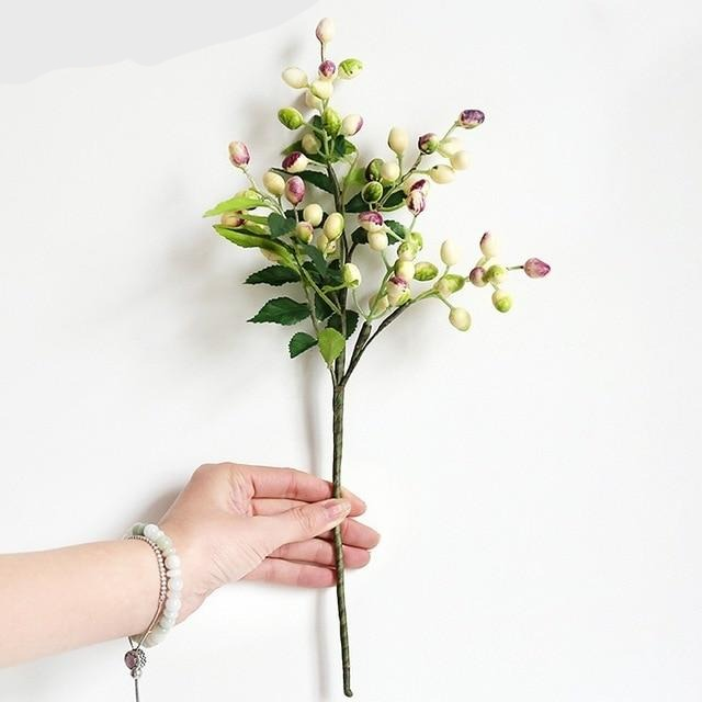 Artificial Olive Flower Tree Branches - 15.3""