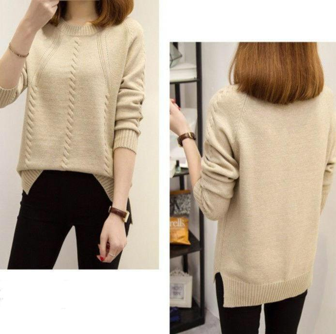 Cabled Cutie O-Neck Sweater - M-3XL
