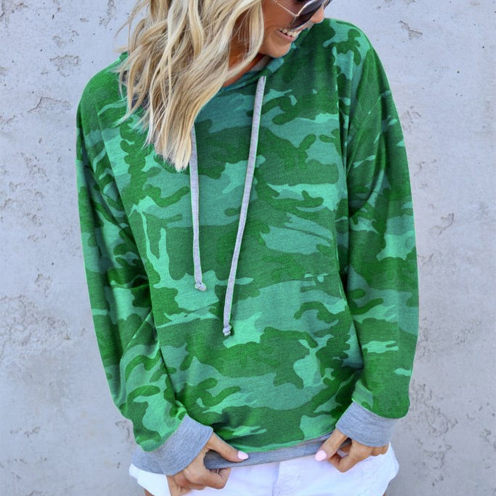 Camo Casual Loose Hoodie Sweatshirt - S-2XL - 3 Colors