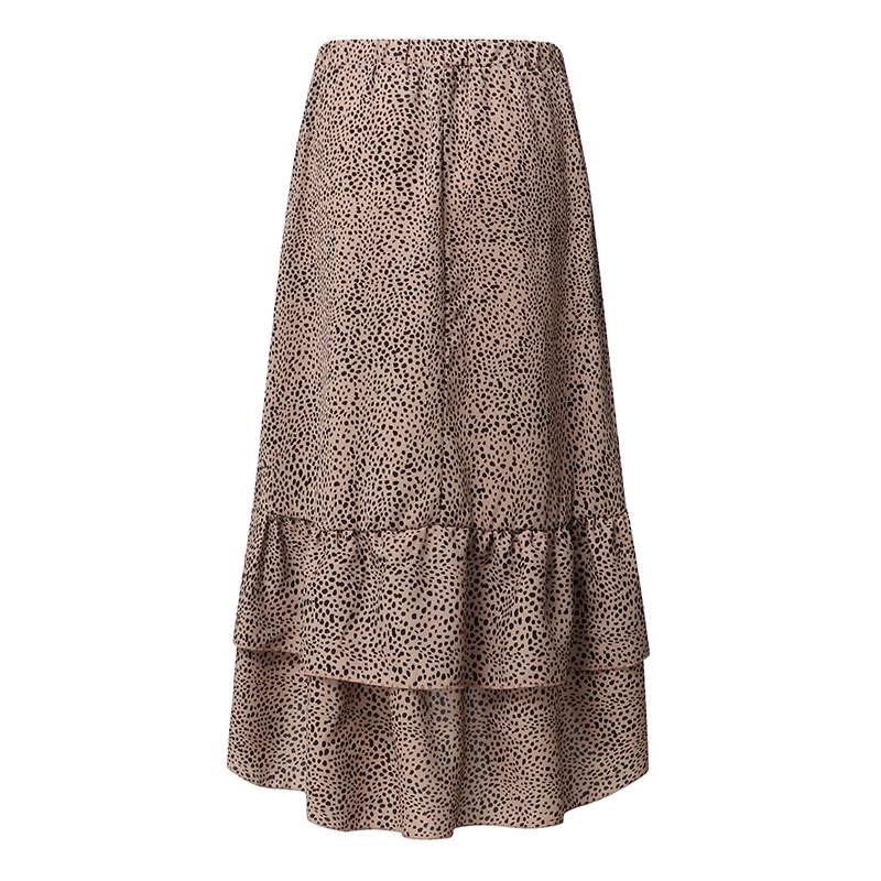 Meadow Polka Dot Ruffled Chiffon High Waist Skirt - S-5XL - 2 Colors