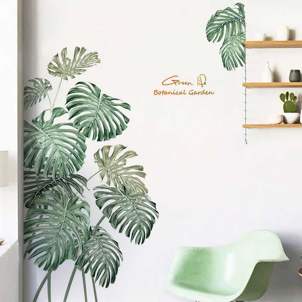 Palms and Peonies DIY  Vinyl Wall Stickers - 12 Styles