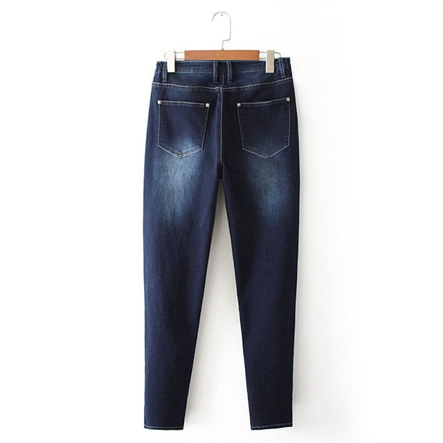 NYC Distressed Denim Jeans - Size 38-56