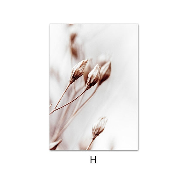 Nordic Natural Plant Flower Canvas Paintings - 8 Styles