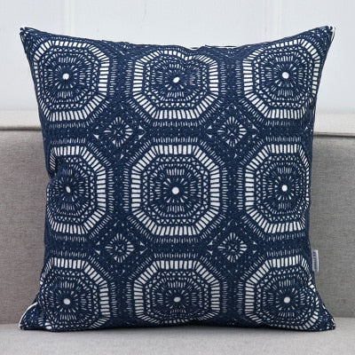 Embroidered Lace Geometric Pillow Cover - 6 Styles - 1 Size