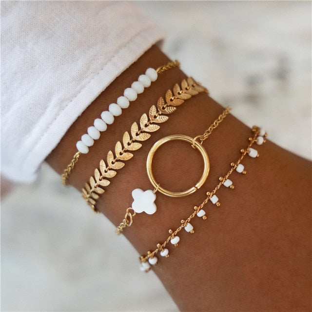 Timeless Gold Tone Bracelet Set - 4 pcs