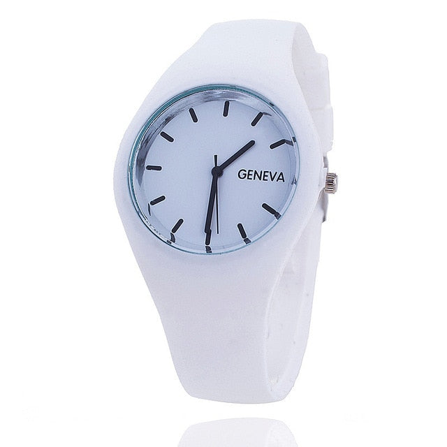 Color Brigade Ultra-thin Silicone Strap Watch  - 12 Colors
