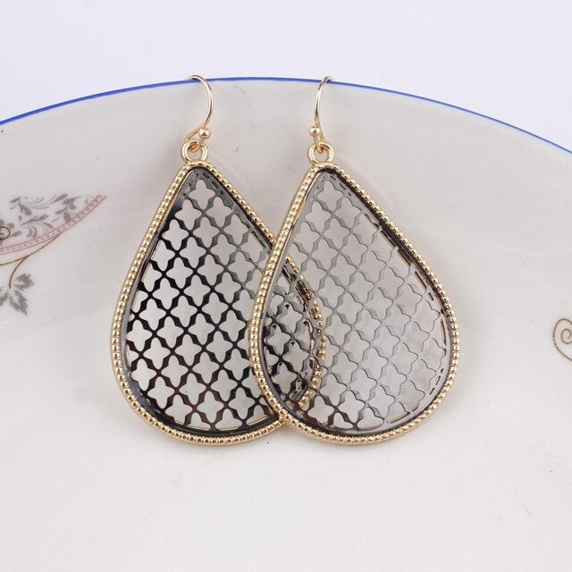 Metallic Drop Earrings - 16 Styles