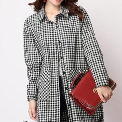 Classic Plaid Long-sleeved Shirt - M-2XL - 2 Plaids