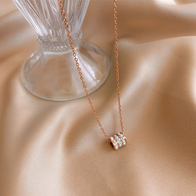 "Stainless Steel Crystal Necklaces - 18"" - 6 Styles"