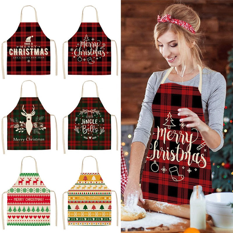 Holiday Linen Christmas Apron - 24 Prints