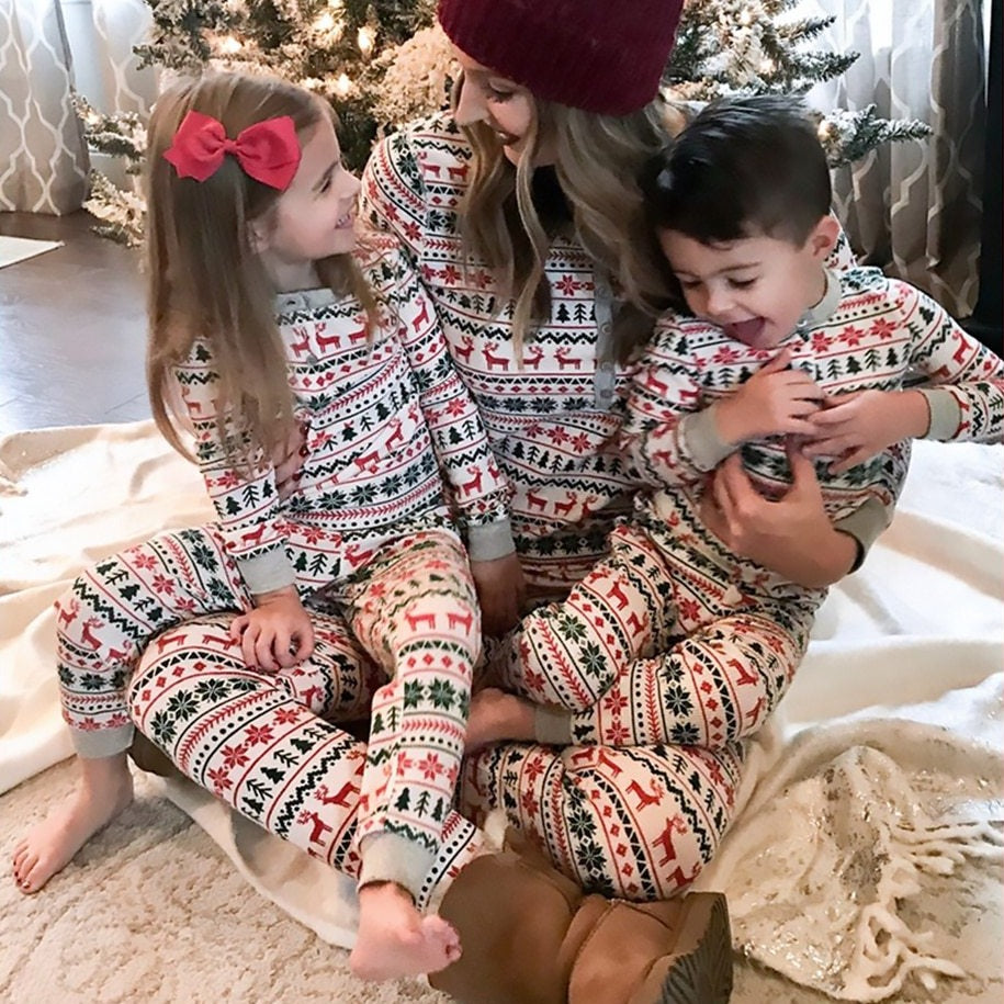 Christmas Moose Family Matching PJ's Set