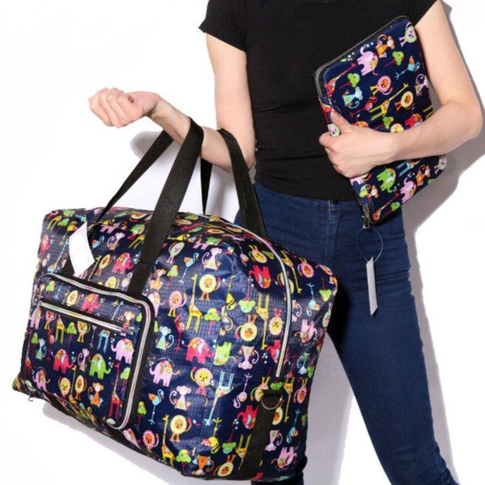 XL Travel Fun Printed Bags Folds up - 23 Colors/Prints
