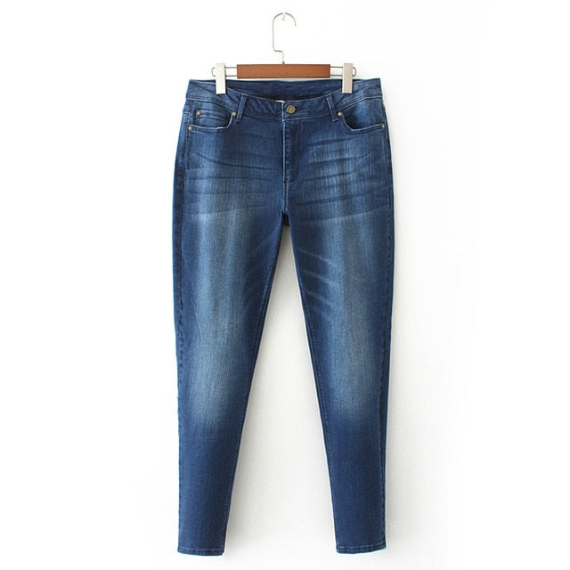 West Coast Stretch Denim - Casual High Waist - S-7XL