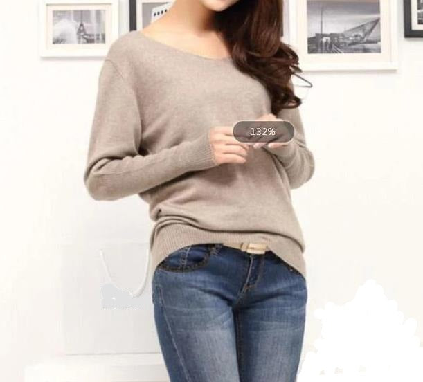 Soft Cashmere V-neck Soft Sweater - S-5XL - 10 Colors