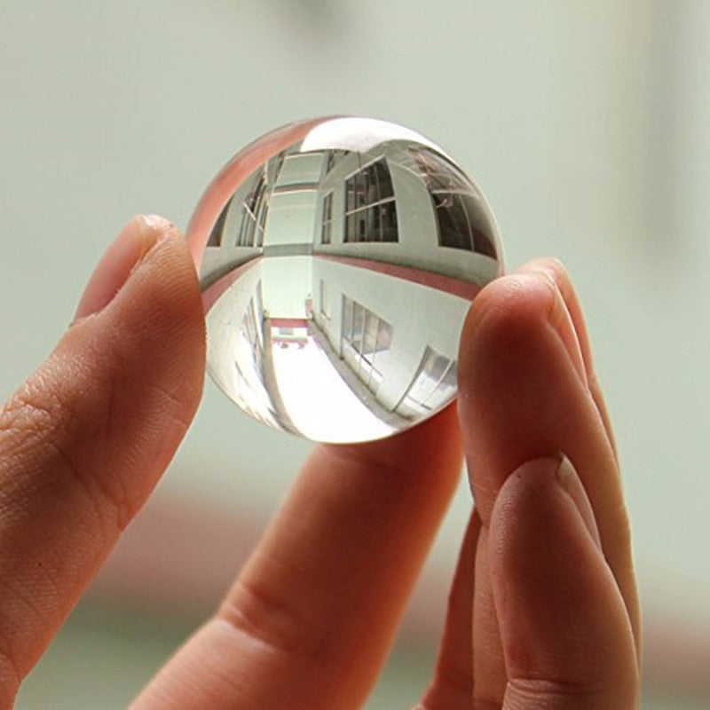 30mm Clear Crystal Ball Transparent Home Decor and Photography aid