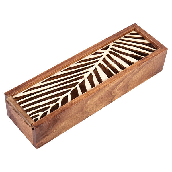 Hollow Laser cut Wood Pencil Case Storage Box Creative Students 4 Designs