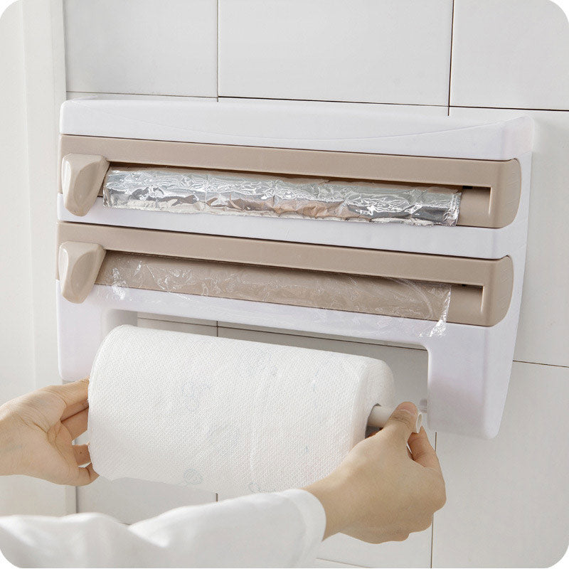 Kitchen Cling Wrap - Paper Towel Caddy - 3 Colors
