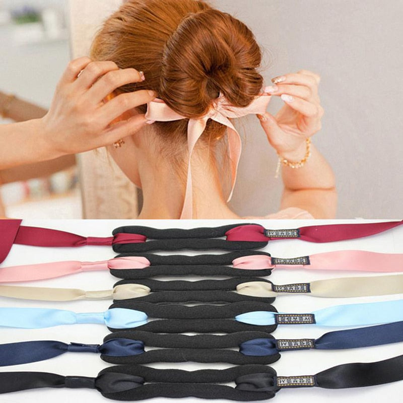Magic Ribbon Bun Maker - One Size - 6 Colors