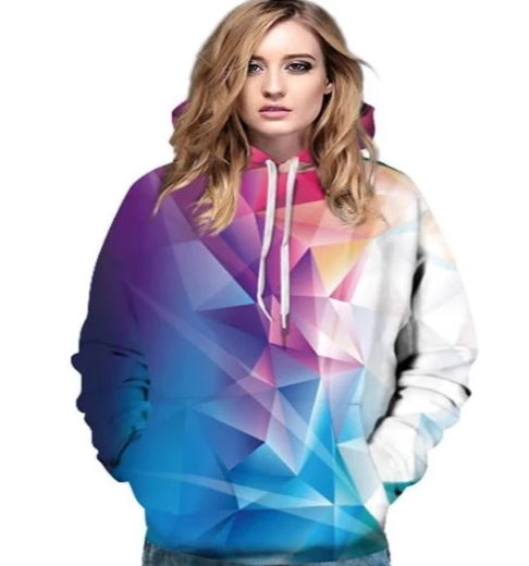 Color Block Prism 3D Sweatshirt - S-3XL