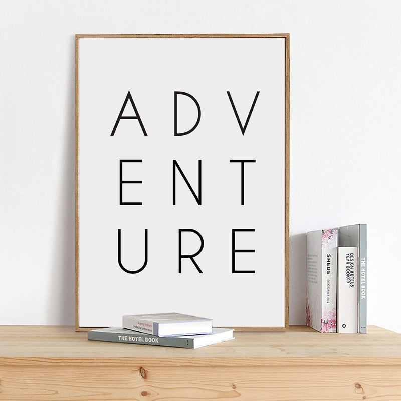 Adventure Wall Art Print on Canvas Modern Wall Decor - 8 Sizes (Frame Not Included)