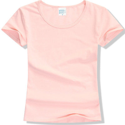 Lovely Solid Layering Cotton Short Sleeve T-Shirt S-2XL - 15 Colors