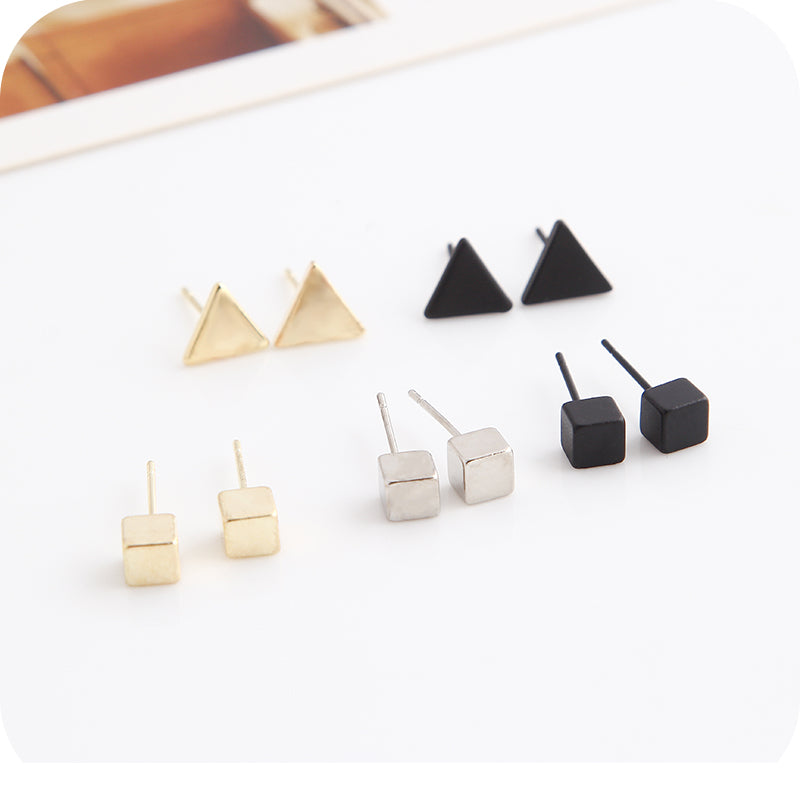 18 Styles Minimalist Geometrical Stud Earrings For Women Fashion Jewelry