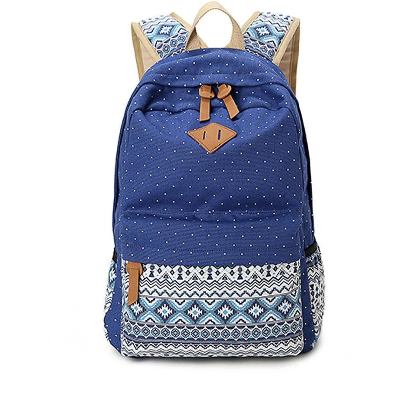Vintage Style Schoolbag Canvas Backpack - Large Capacity - 8 Colors