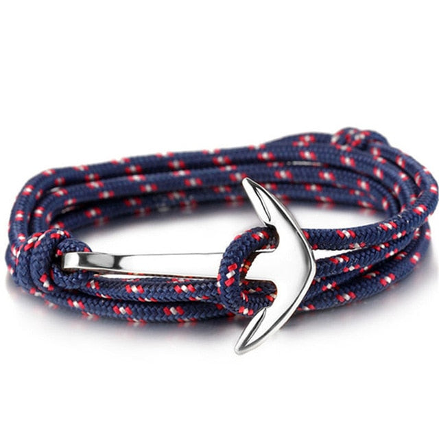Nylon Rope Hook & Anchor Bracelet