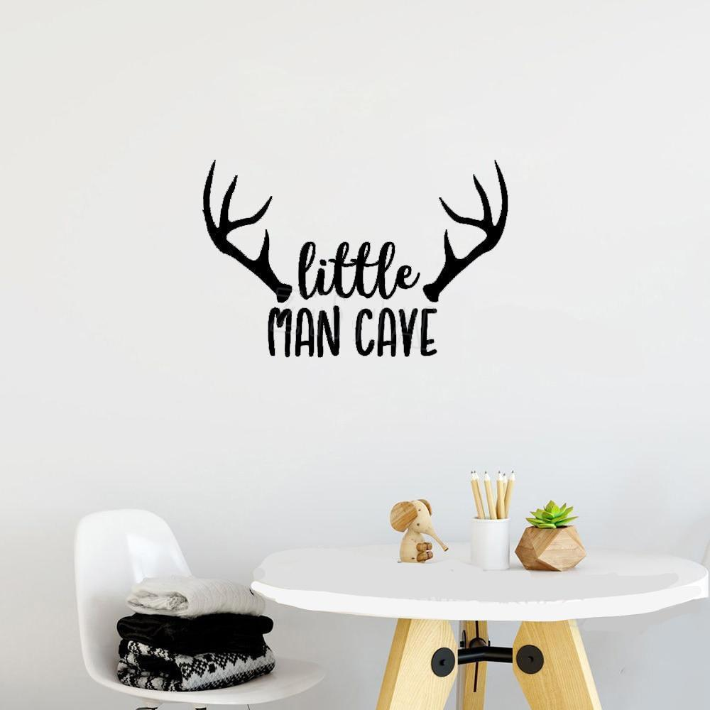 Little Man Cave for Little Boys Room -  Vinyl Wall Sticker Quote 3 Sizes