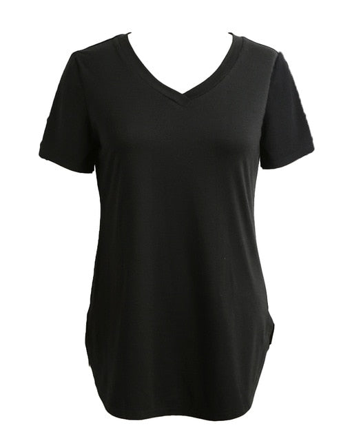 Women's Basic Layering T-shirt  Short Sleeve Shirt  S-5XL, 9 Colors