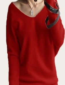 100% Cashmere V-neck Soft Sweater Sizes: S-5XL - 10 Colors