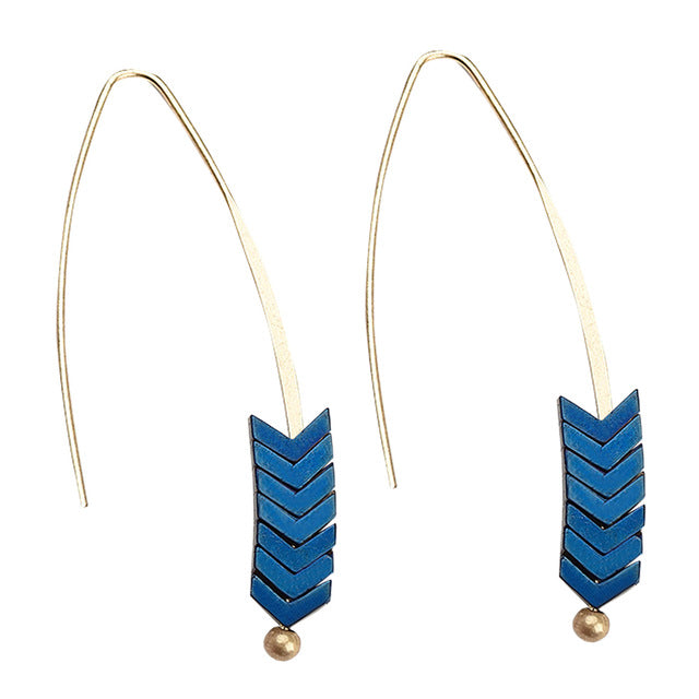 Arrow Wheat Drop Earrings - 8 Colors